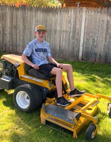 ben kohler on his mower
