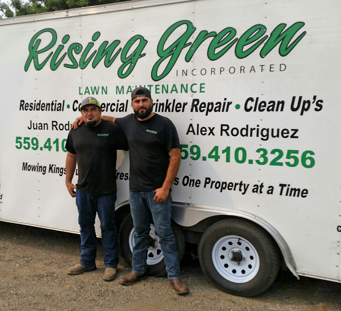 Juan (left) and Alex Rodriguez started Rising Green Inc. in 2011